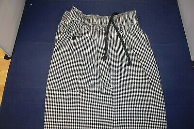 Chef Works Checkered Pants Small