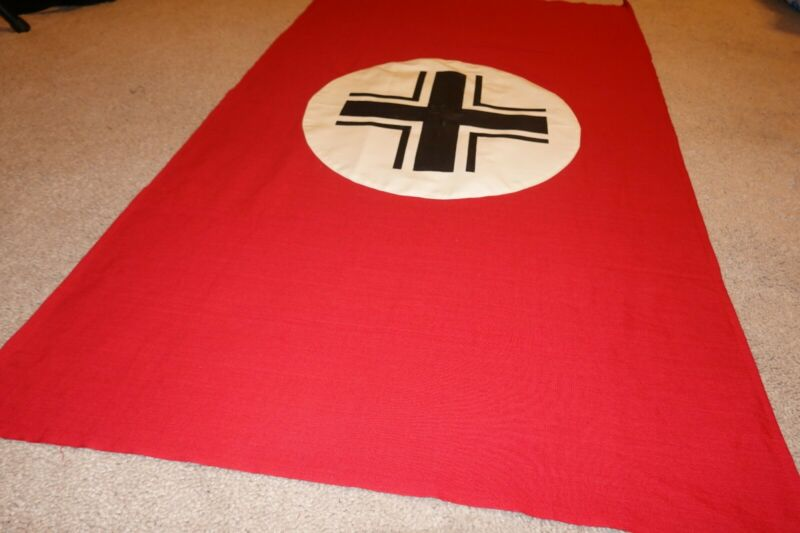 ww2 reproduction flag vehicle identification flag 42x28 heavy cotton one sided