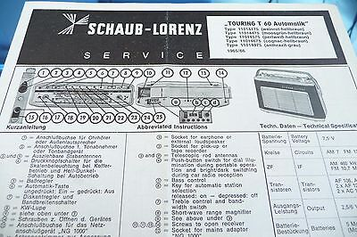 Service Manual-Anleitung für Schaub-Lorenz Touring T 60 Automatik