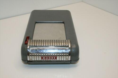 Vintage Moore Portable Cash Receipt Invoice Maker Register Heavy Metal 1950