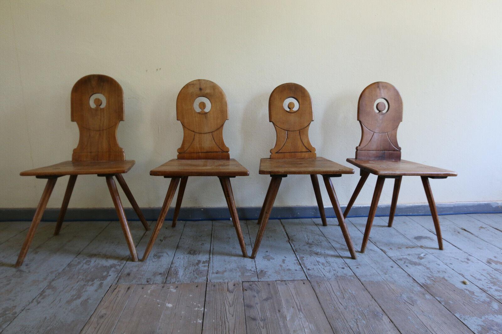 Stuhl Set (4 Stühle) Bauernstühle Biedermeier cirka 1820
