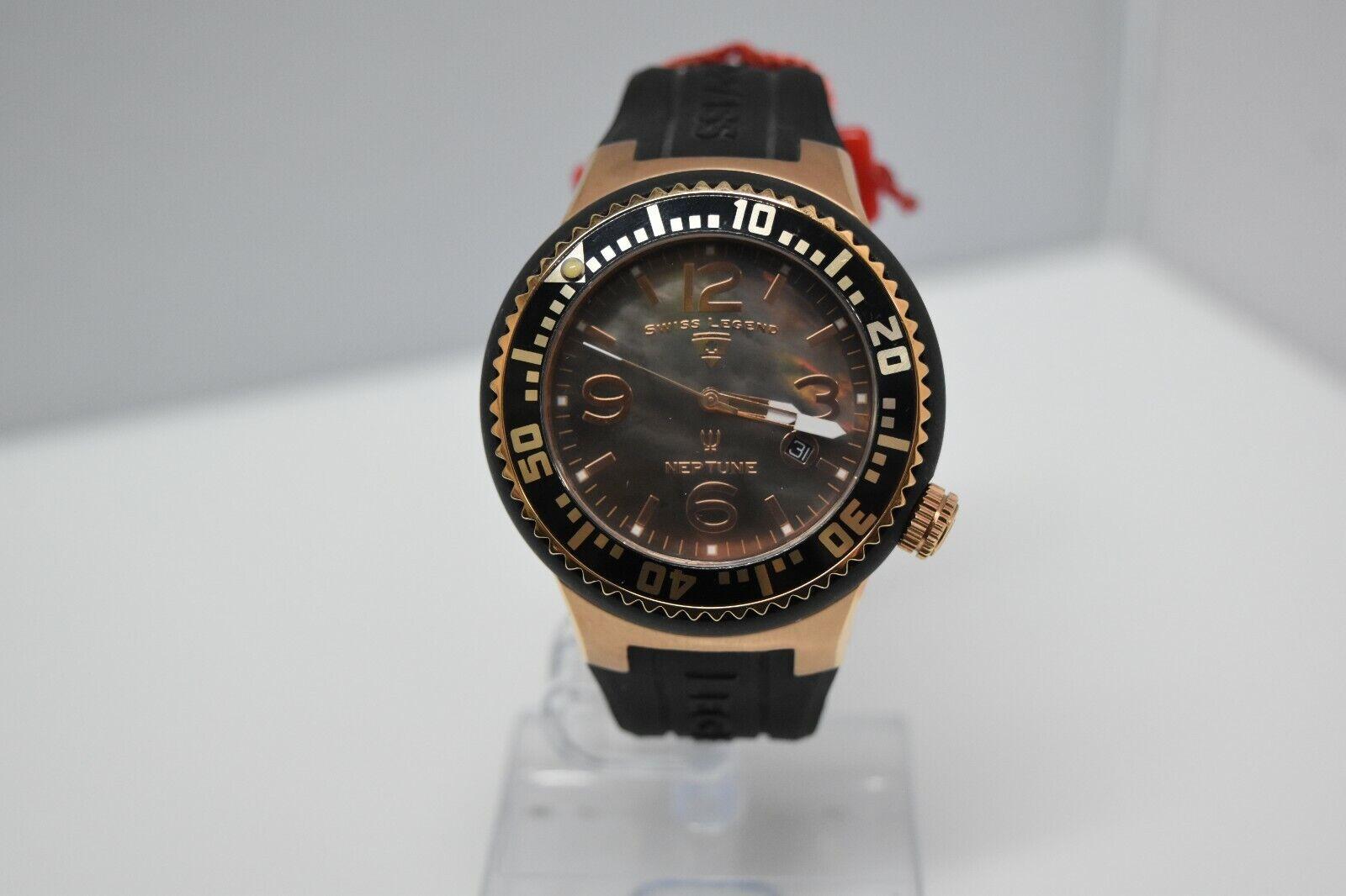 Swiss Legend Swiss Sapphitek 48mm SL-21848P Watch Black/RG/Black MOP