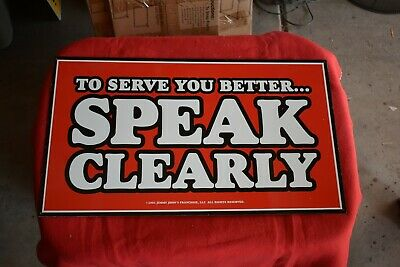 Vintage Jimmy Johns Metal Sign #18-To Serve You Better...