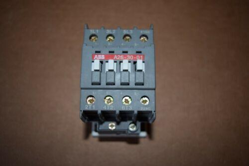 ABB Contactor, A26-30-01-84, 45 Amp, 1SBL241001R8401, 110 - 120V, 50/60HZ, New