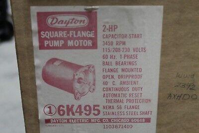 Dayton Square Flange Pump Motor 2HP - 115-208/230V - 3450RPM - 56 FLANGE - 6K495 ()