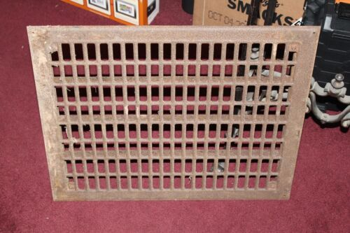 Large Antique Cast Iron Grate Heat Vent Architectural Grate Fireplace