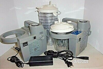 2 Devilbiss Homecare Suction Unit Battery Operated 7305 P-d Cannisters