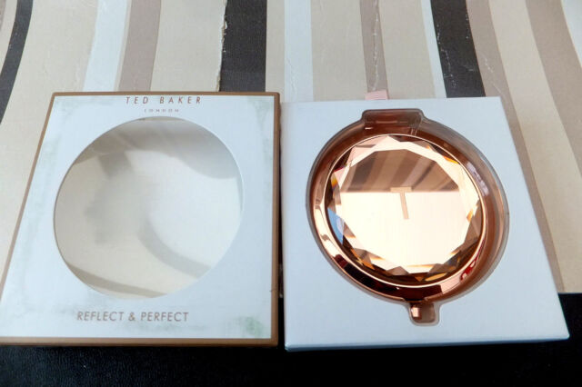 TED BAKER Rose Gold Reflect & Perfect Compact Make up Mirror Christmas Gift BNWT