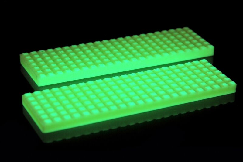 Knife Making Supplies Glow in Dark knife scales Square Pattern bbbb