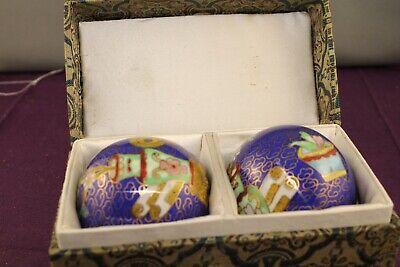 Vintage Set of Chinese Cloisonne Enamel Baoding Balls