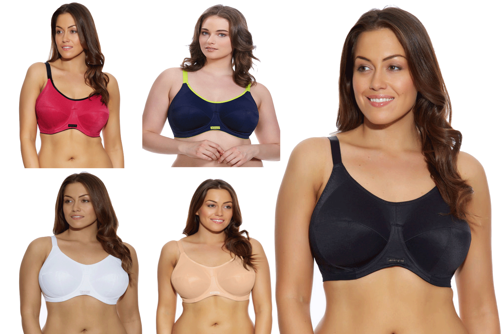 806bad2e1e17f Details about Elomi Energise Sports Bra Full Cup Underwired Multiway 8041 J  Hook Various New