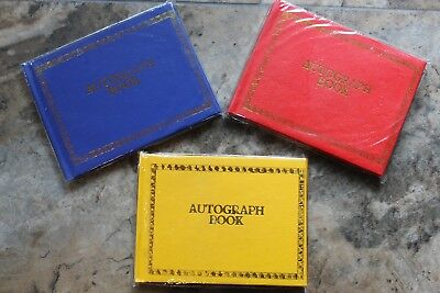 Autograph Book W/ Colored Blank Pages Special Occasion Graduation School Friends