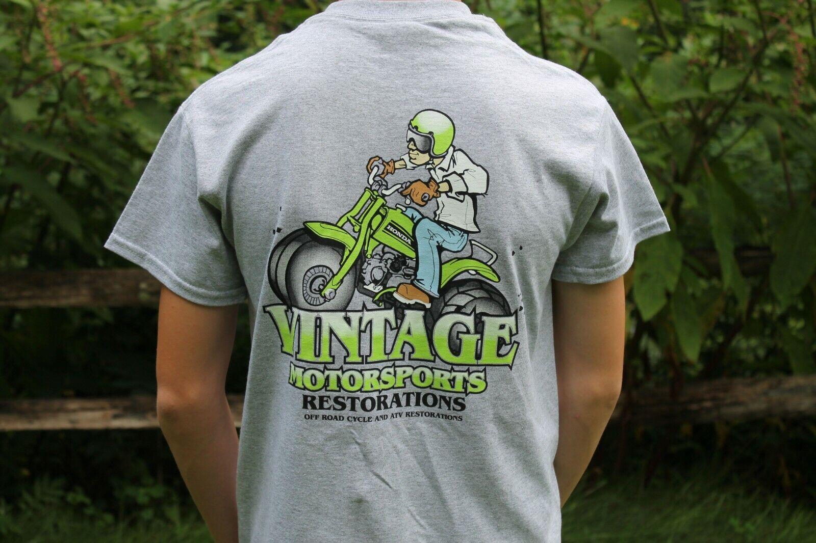 Vintage Motorsports T shirt NEW Logo Honda ATC 90 US90 250r