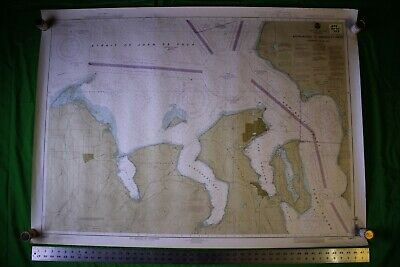 Admiralty Inlet (Washington Coast Admiralty Inlet Puget 48x35 Vintage 1993 Nautical Chart/Map)