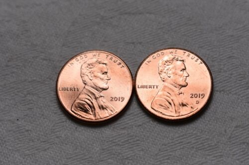 2019  P & D Lincoln Shield Cent / Penny Set (2 Coins) **FREE SHIPPING**