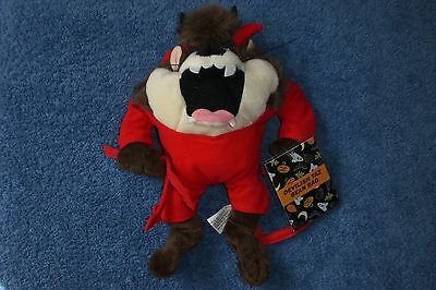 Warner Brothers 2000 Tasmanian Devil HALLOWEEN DEVILISH TAZ Bean Bag Plush