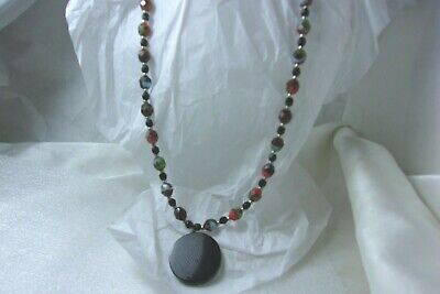 Multi Color Beads Necklace (Multi Color Faceted Bead Fashion Statement Boho)