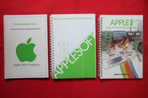 3 APPLE II COMPUTER PROGRAMMING MANUALS