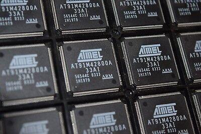 Atmel At91m42800a-33ai Dc 0333 Arm Thumb Microcontroller 144-pin Lqfp Qty-1