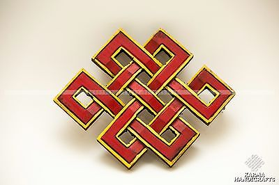 ENDLESS KNOT YOGA WOODEN WALL HANG SIGN PLAQUE  6