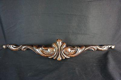 Antique Carved Wood Ornate Furniture Top Wardrobe Cabinet Vintage Old 27