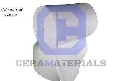 Ceramic Fiber Blanket Kaowool High 2300f Thermal Ceramics 12x24x50 8