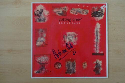 """Nick Van Eede """"Cutting Crew"""" Autogramm signed LP-Cover """"Broadcast"""" Vinyl"""