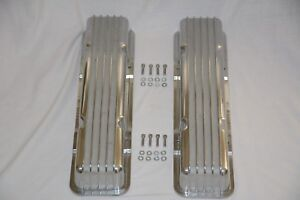Chevrolet SBC Valve Covers Finned Aluminum Corvette Style 283 327 350 383 Chevy
