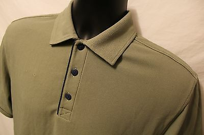 Food Lion Polo Rugby Green 100  Polyester Short Sleeve Work Uniform Sz Small