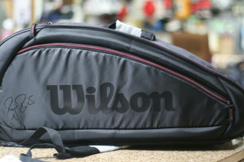 WILSON 12R Tennis Bag, Black Red