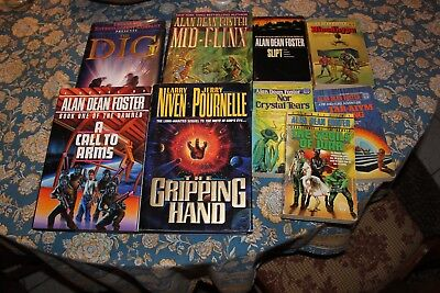 Lot of 9 Alan Dean Foster Books Call to arms Mid Flinx Gripping Hand - f