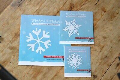 14 Snowflake, Big Flakes Pack of Snowflake Clings - Snowflake Window Clings