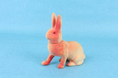 VINTAGE ANTIQUE GERMAN PAPER MACHE EASTER BUNNY RABBIT CANDY CONTAINER