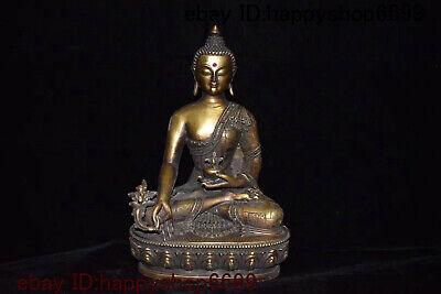 Pure Copper Antiques Small Bronze Buddha Statue Pharmacist Buddha Handicrafts