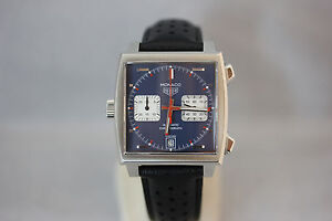 TAG Heuer Monaco Steve McQueen Calibre 11 Chronograph 39mm UNGETRAGEN