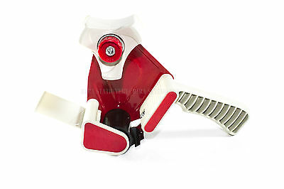 1 X 2 Inch Packing Tape Gun Dispenser Cutter Metal Frame Red