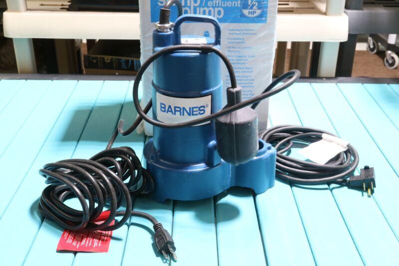 Barnes Crane 1/2 HP Heavy Duty Cast Iron Submersible Sump Pu