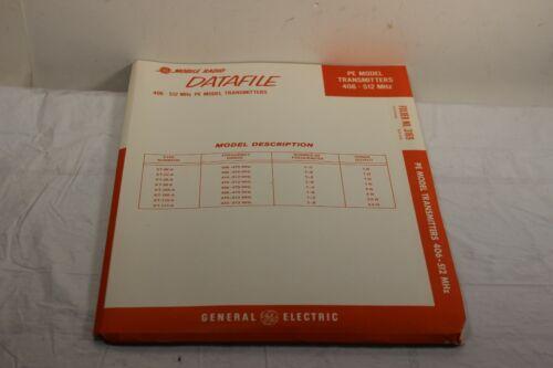 GE DATAFILE 3169 PE MODEL TRANSMITTER OWNER