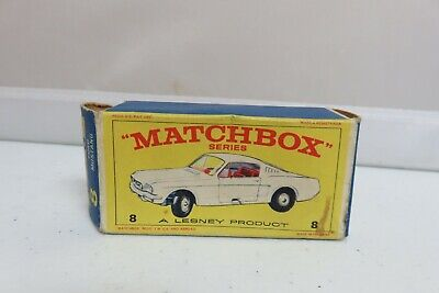 Vintage Lesney Matchbox #8 Ford Mustang Steering Car Empty Original Box Only