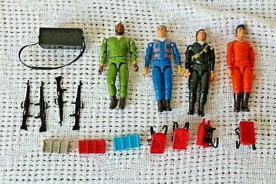 Vintage 1983 A-Team Figures Mr T B.A. Baracus Face Hannibal Lot of 4 w/ weapons