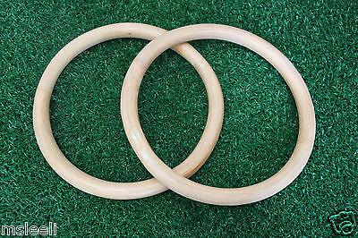 2pcs Wing Chun Kung Fu Wood O Ring Training Hand Strength Diameter 260mm