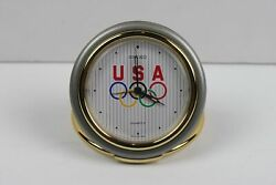 Seiko Quartz Travel Alarm Clock with Olympic Rings Folding