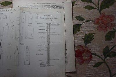 1861 Fragment Zeitschrift Bergbau / 10 Seiten Saline Schöningen