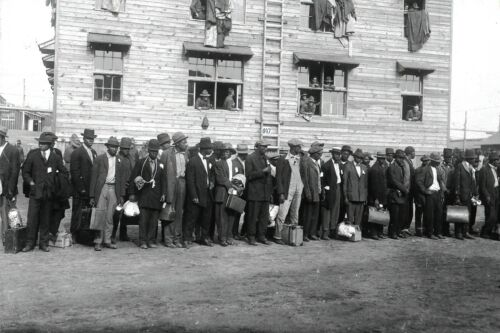 c1917  African American Troops Entering Camp Devens, MA Military Camp-8x12 Photo