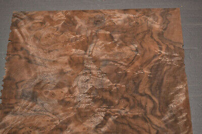 Walnut Burl Raw Wood Veneer Sheets 7.5 X 8.5 Inches 142nd Thick   7631-23