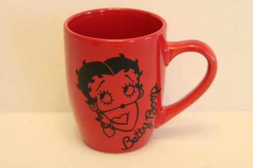 Classic Betty Boop Red & Black Coffee Cup Mug Embossed