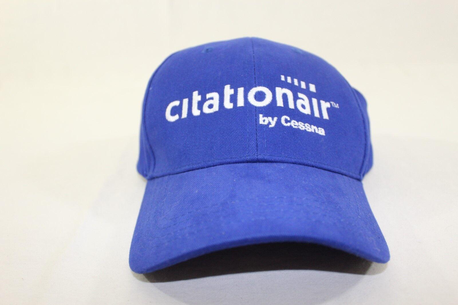 Cessna Citationair blue hat buckle back aircraft aviation