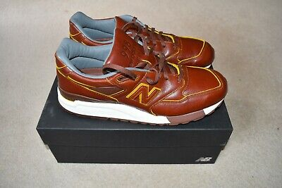 NEW BALANCE 998 TRAINERS HORWEEN ALL LEATHER MADE IN THE USA UK 10 BNWB