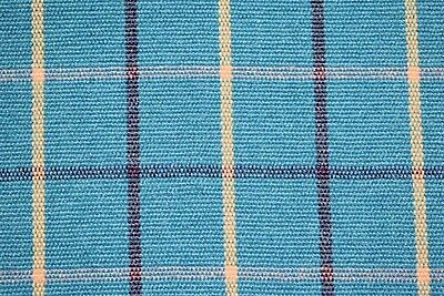 Yarn Dyed Teal Plaid Canvas Duck Soft Upholstery Fabric -