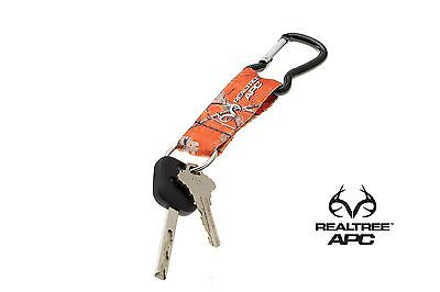Realtree APC Orange Camo Keychain With Clip On Carabiner New Realtree Key Ring